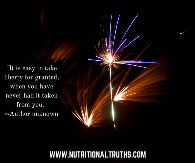 It is easy to take liberty for granted, when you have never had it taken from you.--Author unknown